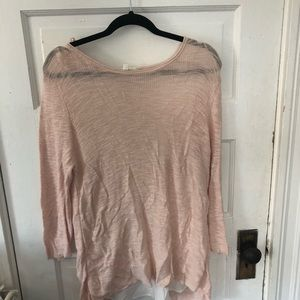 Vince Camuto pink oversized sweater